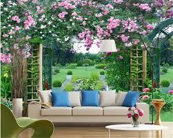 Lqwx 3d Wallpaper Fashion Modern Minimalist Rose Garden Background