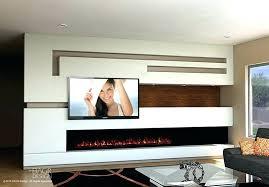contemporary wall fireplace modern media wall design trending choice