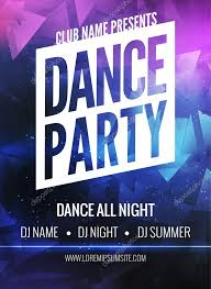 Party Template Dance Party Poster Template Night Dance Party Flyer Club Party