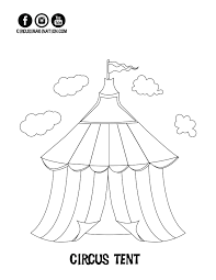 coloring page circus tent jpeg carnival tent pages circusg pages printable