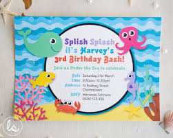 Birthday Invitation Party Under The Sea Birthday Invitation Diy Printable
