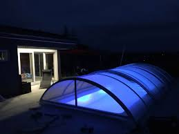 home swimming pools at night. Swimming Pool Enclosure In The Night Home Pools At T