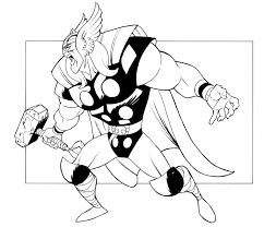 Thor Pdf Printable Coloring Page Avengers Coloring Pinterest With