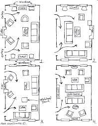The Room Arranging Furniture Twelve Different Ways In Same Fred