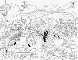 Small Picture Cartoon Network Adventure Time with Finn and Jake Coloring Pages