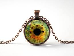 glass eye necklace human eye pendant