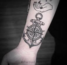 Anchor Compass Tattoo On The Wrist Tattoogridnet