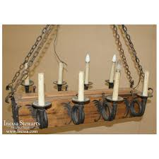 wrought iron chandeliers rustic french