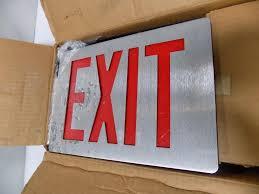 Emergi Lite Exit Lights Details About Emergi Lite Exit Sign Fp1r277 Nib