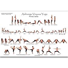 Ashtanga Poses Chart Us 5 89 Mq2211 Yoga Ashtanga Pose Beginner Vinyasa Namaskara Health Hot Art Poster Top Silk Light Canvas Home Decor Wall Picture Print In Painting