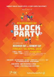 Block Party Flyer Neighbourhood Day Block Party Cmrc