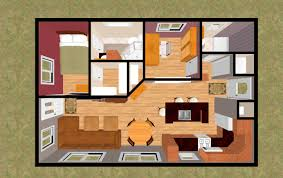 image of small house open floor plans 3d
