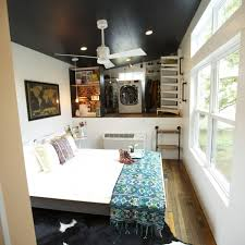 Small Picture An open bedroom space with an open closet and dual washerdryer