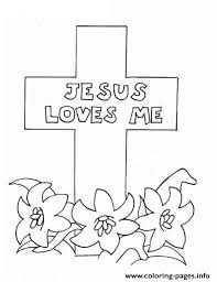 Various coloring pages for kids, and for all who are interested in coloring pages, can get amazing pictures easily through this portal. Jesus Loves Me Picture Coloring Pages Printable