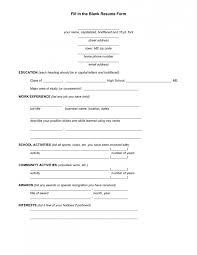 Topic Related to Amusing Resume Application Form Sample With Blank  Templates Template Fun