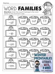 winter worksheets kindergarten winter literacy worksheets ...