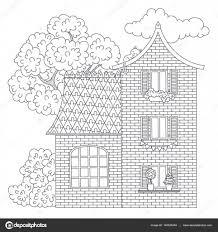 Kleurplaat Huis Stockvector Natalie Art 140526454
