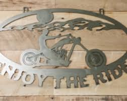 motorbike metal wall art uk