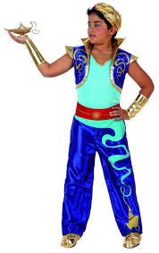 Wonderful Wholesale   2016 New Style Carnival Cosplay Costume Party Clothing For Kids  Aladdin Costumes Superhero Blue Color