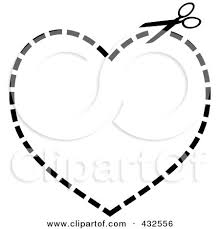 Margin lines are continuous thick or wide lines along which the prints are trimmed. Pair Of Scissors Cutting On A Dotted Line In The Shape Of A Heart Posters Art Prints By Interior Wall Decor 432556
