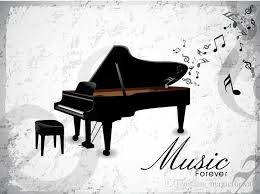 music forever piano wall art mural poster decor musical note home decoration wallpaper graphic piano room living room decal sticker on piano themed wall art with music forever piano wall art mural poster decor musical note home