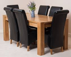 oak dining table and chairs. KUBA SOLID OAK DINING TABLE WITH 6 OR 8 MONTANA CHAIRS *Available In 4 Colours* (Black, 6): Amazon.co.uk: Kitchen \u0026 Home Oak Dining Table And Chairs M