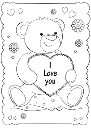 Print and color valentine's day pdf coloring books from primarygames. I Love You Coloring Pages 40 New Images Free Printable