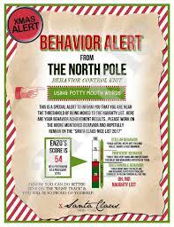 Printable Santa Letter Kids Christmas Behavior Alert Letter Warning Letter Naughty List Behavior Report Personalized Santa Letter Magic Elf