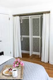 Replacing Bi-fold Closet Doors with Curtains: Our Closet Makeover - Driven  by Decor