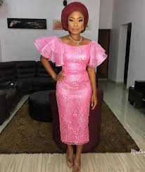Lace African Dresses Design 2018 Glamorous Aso Ebi Styles Of 2018 Lace Dress Styles Lace