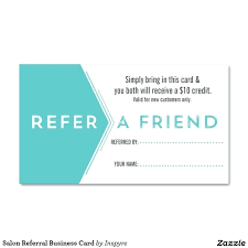 Referral Coupon Template Stunning Ready To Print Referral Coupon Template Download Salon Cards