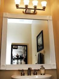 elegant how to frame a bathroom mirror with crown molding 65 with additional small home decoration