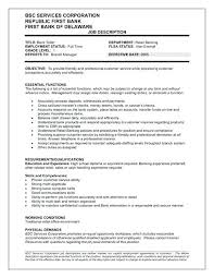 Customer Service Job Description Retail Bank Teller Job Description Resume Viragoemotion Com