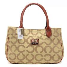 Coach In Signature Large Khaki Satchels AQF ...