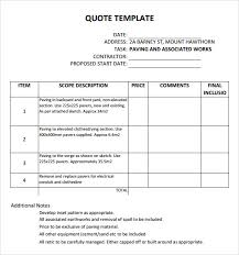 Cotation Sample Sample Training Quotation Sample Training Quotation Resume Template