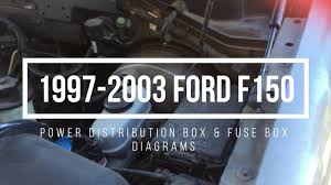 1997 2003 ford f150 fuse box locations & diagrams youtube  at 2003 E 150 4 2 Liter Fuse Box Trailer