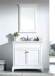 inch white bathroom vanity set with marble top carrara