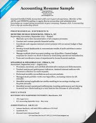accoutant resumes accounting cpa resume sample resume companion