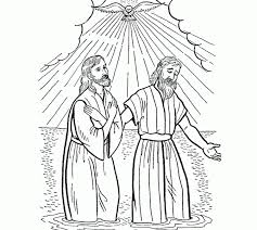 Best Jesus Being Baptized Coloring Page 22 Coloring Paged For Children