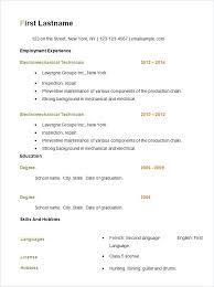 download free sample resume resume template download www getbidline com
