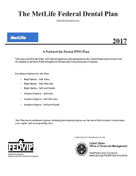 The Metlife Federal Dental Plan 2017