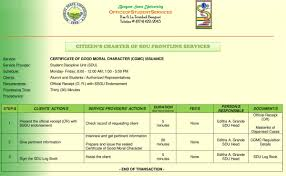 Issuance Of Certificate Of Good Moral Character Cgmc Benguet