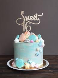 Sweet 16 Cake Topper Sweet 16 Birthday Decorations Birthday Cake