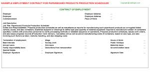 products production scheduler job titlepaperboard products production scheduler employment contract