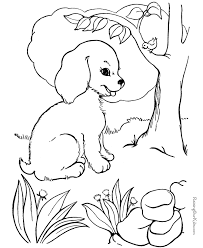 Small Picture Free Dog Pages to Color