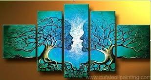 handpainted 5 piece green modern abstract oil paintings on canvas wall art tree of life pictures  on canvas wall art tree of life with handpainted 5 piece green modern abstract oil paintings on canvas