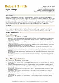 Sample It Project Manager Resumes Project Manager Resume Samples Qwikresume