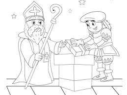Sint En Piet Op Het Dak Kleurplaat Kleurplaten Printen Op Minipretnl