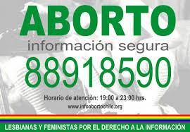 Resultado de imagen para linea aborto chile lesbianas y feministas por el derecho a la información