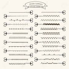 Stitching Patterns Inspiration Collection Of Vector Illustration Sewing Stitch Patterns Royalty